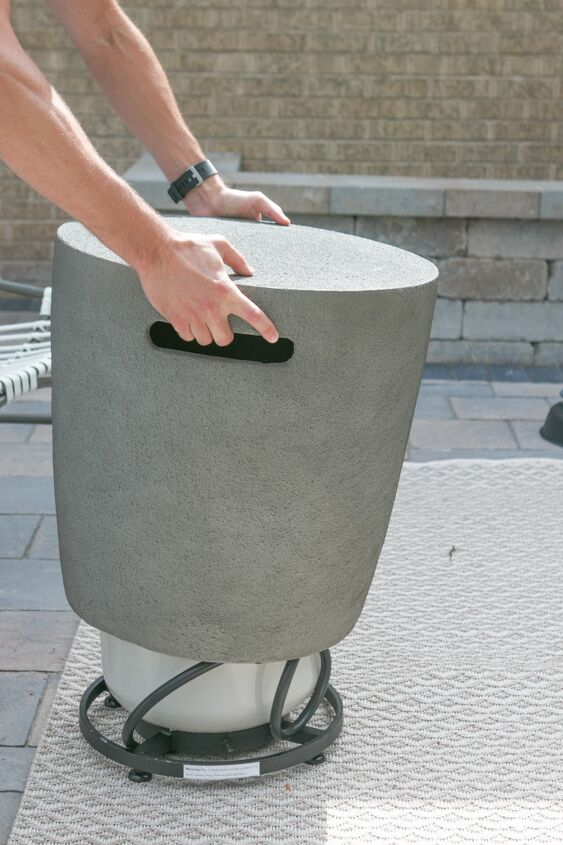 s fire pit ideas, The Perfect Propane Fire Pit