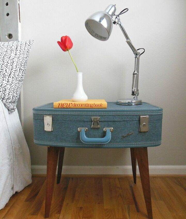 s diy home projects, Spruce Up Your Side Table with a Suitcase