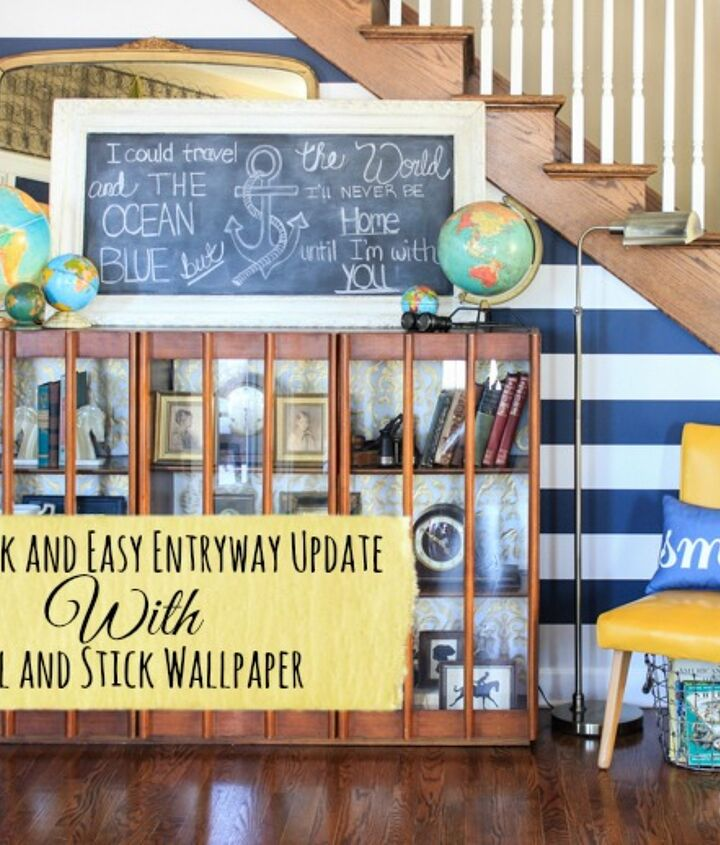 s diy home projects, Use Removable Wallpaper to Transform Your Space