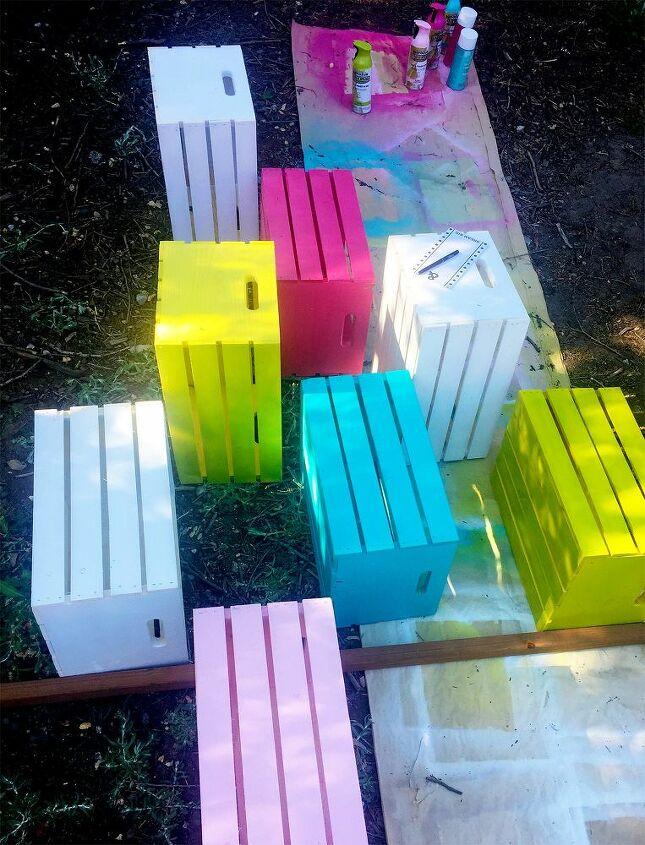 rainbow vertical garden diy