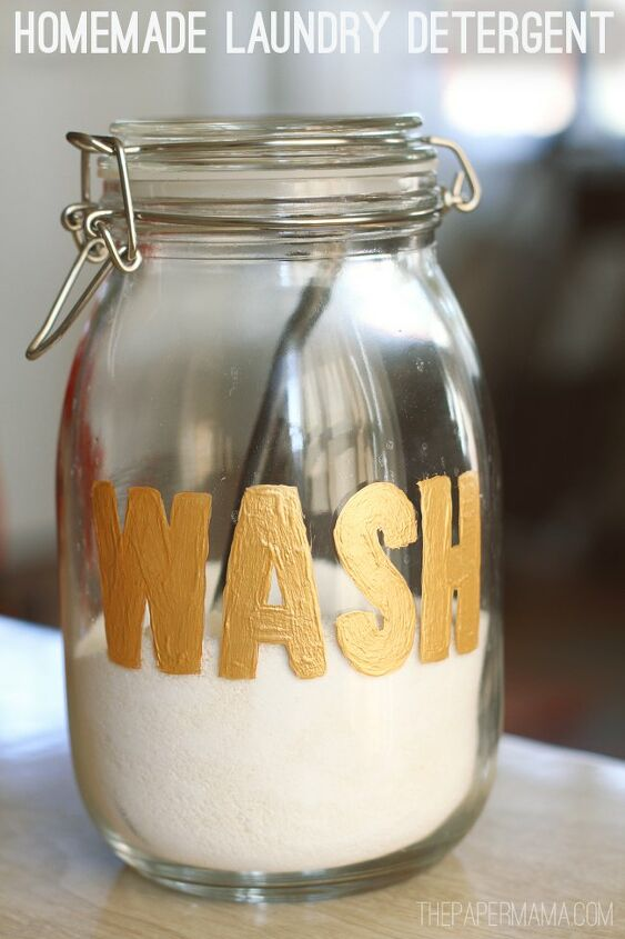homemade laundry detergent and wash jar diy