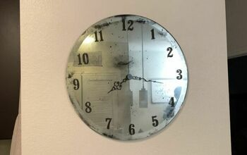 Make an Antique Mirror Clock With Only $20