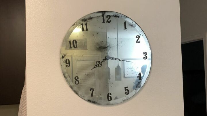 make an antique mirror clock with only 20