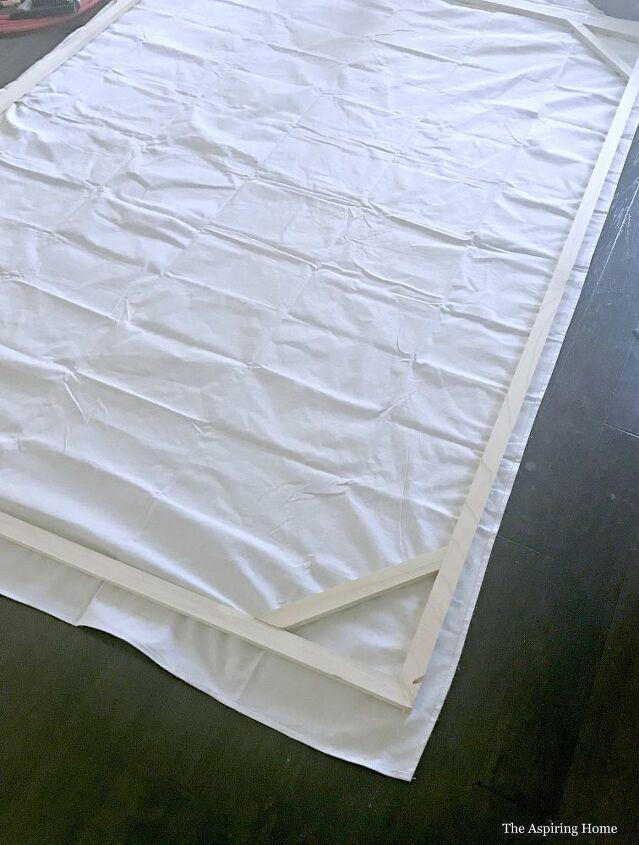 build a giant diy canvas frame using a drop cloth