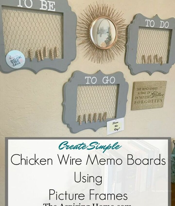 chicken wire memo boards using picture frames