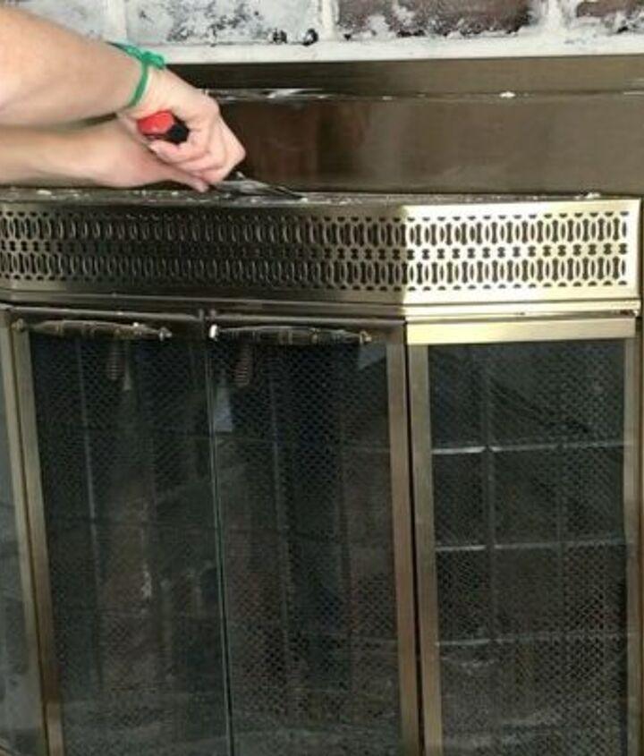 german schmear fireplace makeover