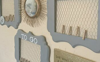 Chicken Wire Memo Boards Using Picture Frames