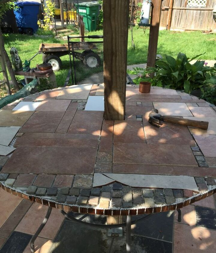 s best diy patio furniture projects, Building a New Patio Table from an Old One