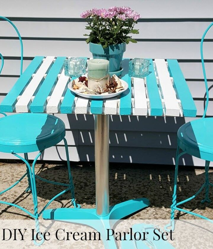 s best diy patio furniture projects, How to Get That Fun Ice Cream Parlor Look for Your Patio Furniture