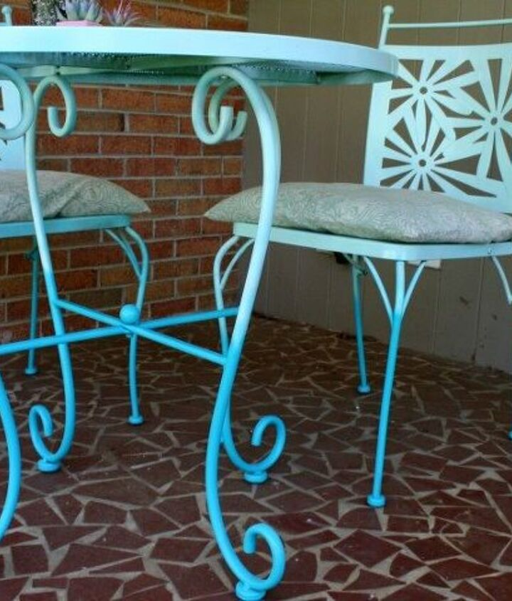 s best diy patio furniture projects, Ombre Paint Styles Create Calming Coastal Vibes for Your Back Yard