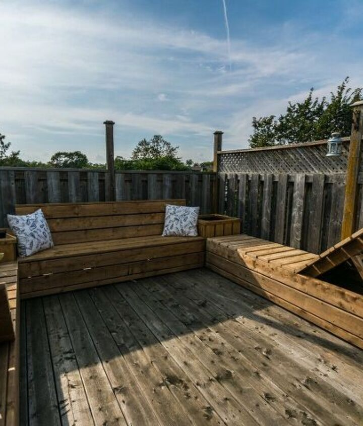 s best diy patio furniture projects, DIY Dual Purpose Lounger and Bench