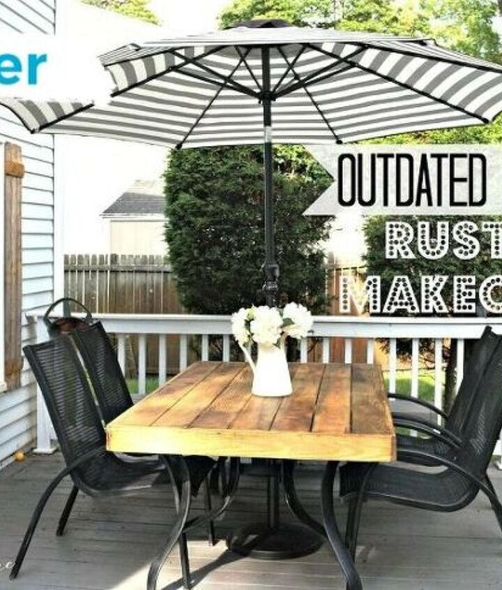 s best diy patio furniture projects, Turning Old Patio Furniture Into a French Rustic Caf Space
