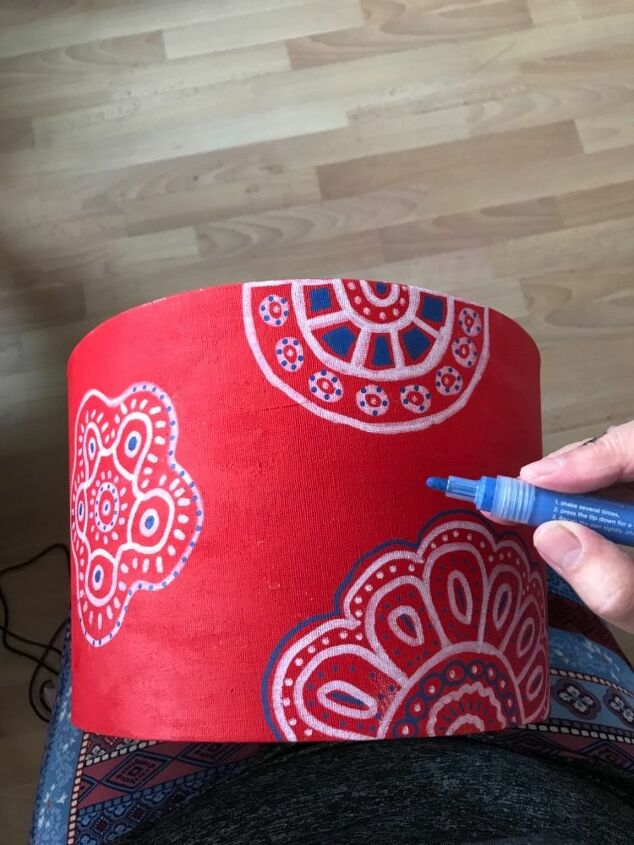 Adding Blue paint pen details