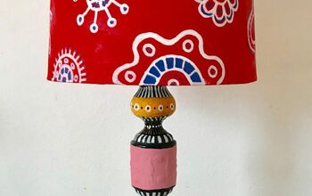 Red White & Blue Lampshade Makeover