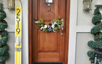 DIY House Numbers on a Water Ski