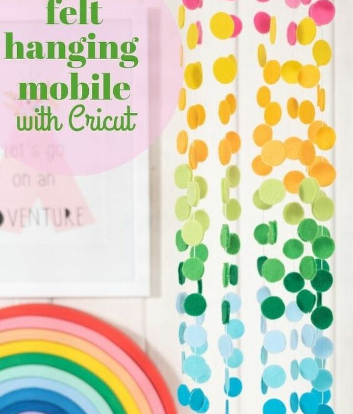 felt hanging mobile with cricut
