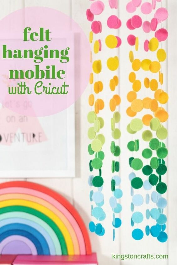 felt hanging mobile with cricut