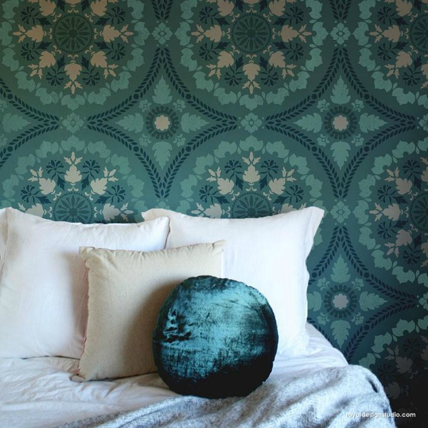 the complete guide to wall stencils wall stenciling