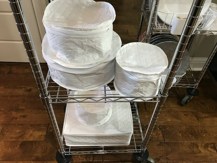 dinnerware organization