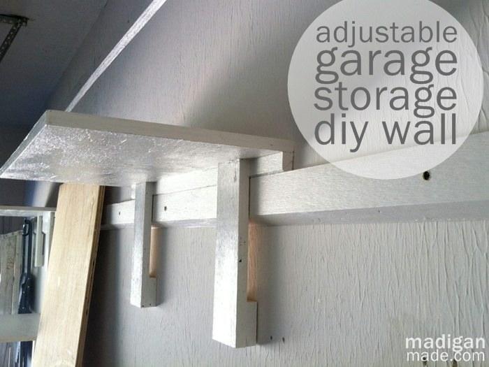 s garage storage ideas, Adjustable DIY Garage Storage