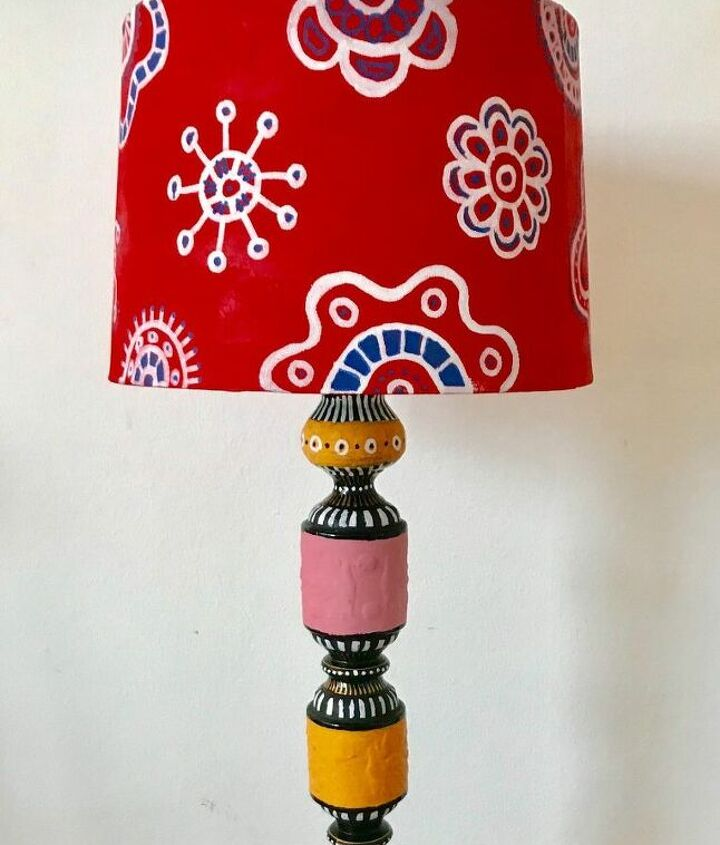 sweet whimsical lamp stand make over