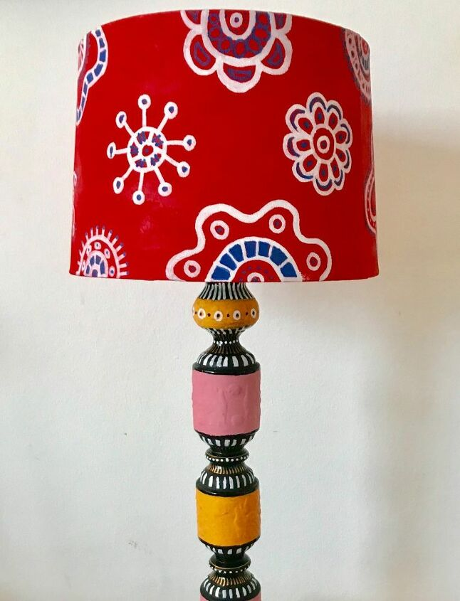 How to decorate lamp shade and stand makeover