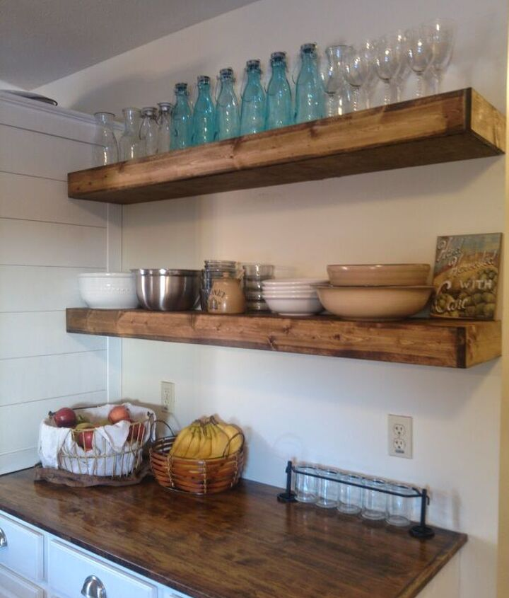 s diy floating shelves ideas, Budget Floating Shelves