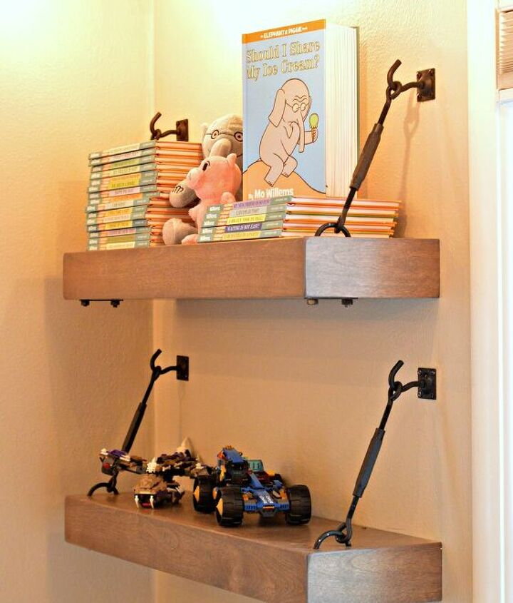 s diy floating shelves ideas, Ingenious Industrial Floating Shelves for Your Bedroom