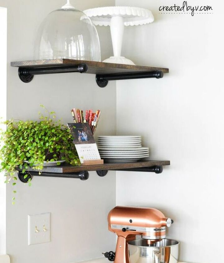 s diy floating shelves ideas, Perfecting Piping Creative DIY Floating Shelves