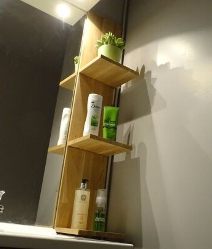 s diy floating shelves ideas, Brilliant Bathroom Floating Shelves