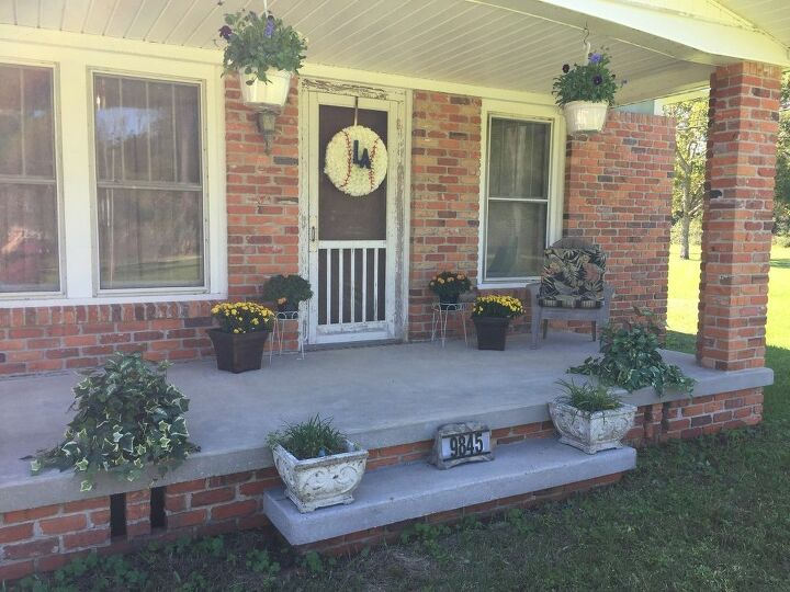 q front porch plants