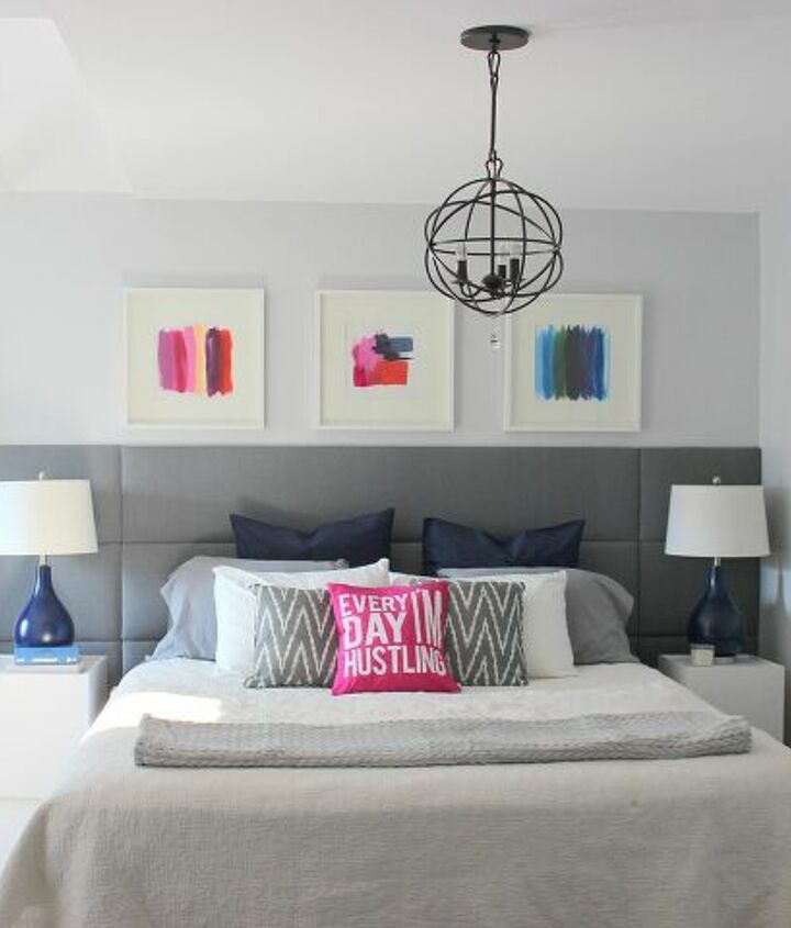 s master bedroom ideas, White With Color Splashes Master Bedroom