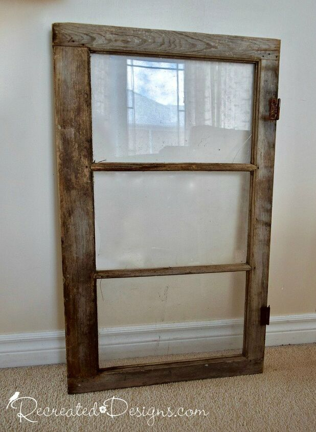 an easy way to upcycle an old window into art