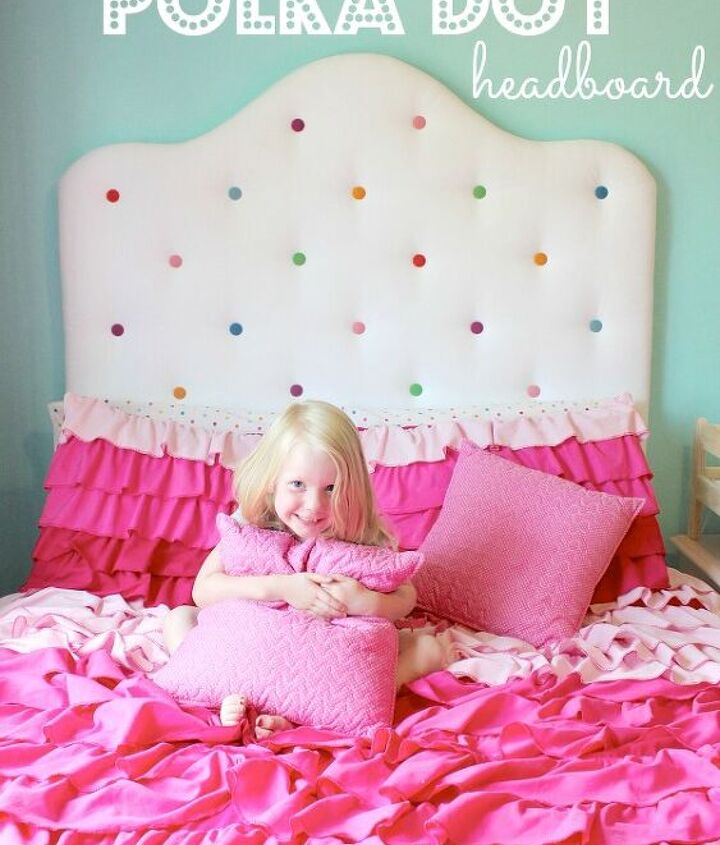 s tufted headboard ideas, Adding Some Fun in the Bedroom with a Polka Dot Headboard