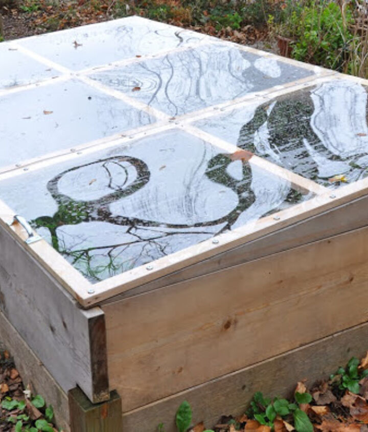 s diy raised garden bed ideas, Raised Bed With Detachable Cold Frame
