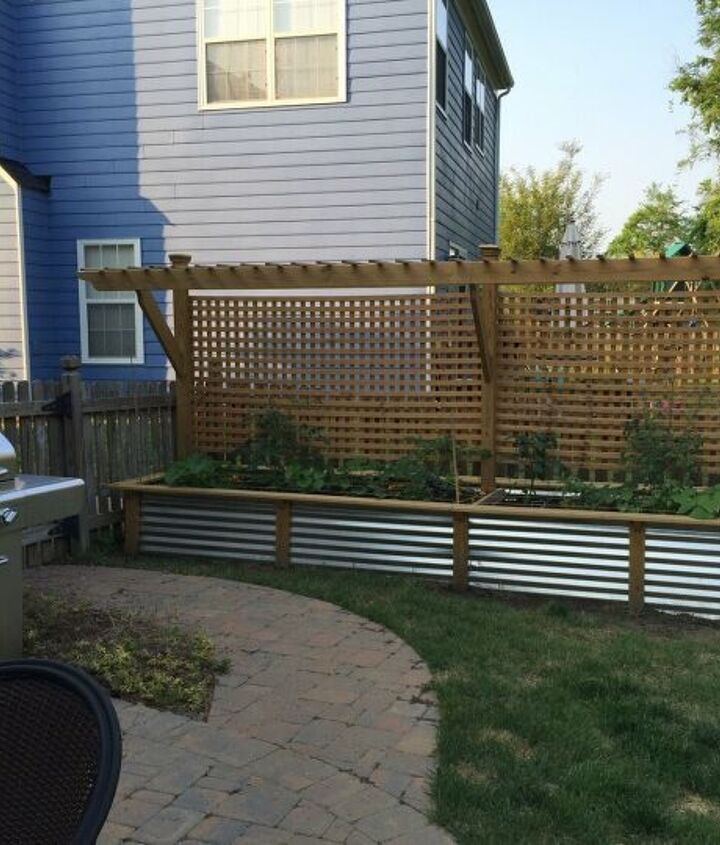 s diy raised garden bed ideas, Metal Raised Garden Bed With Trellis