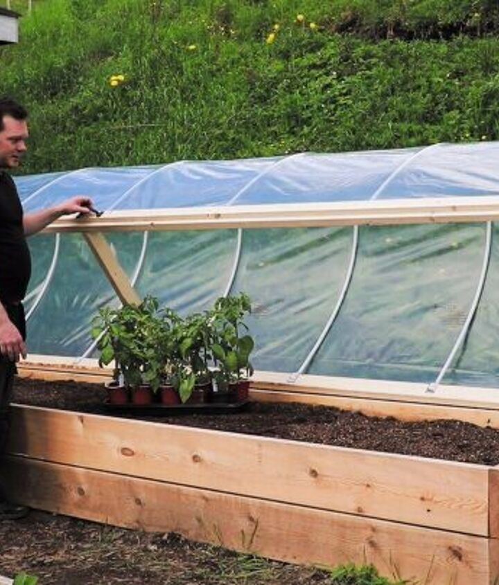 s diy raised garden bed ideas, Convert A Raised Bed Into A Greenhouse