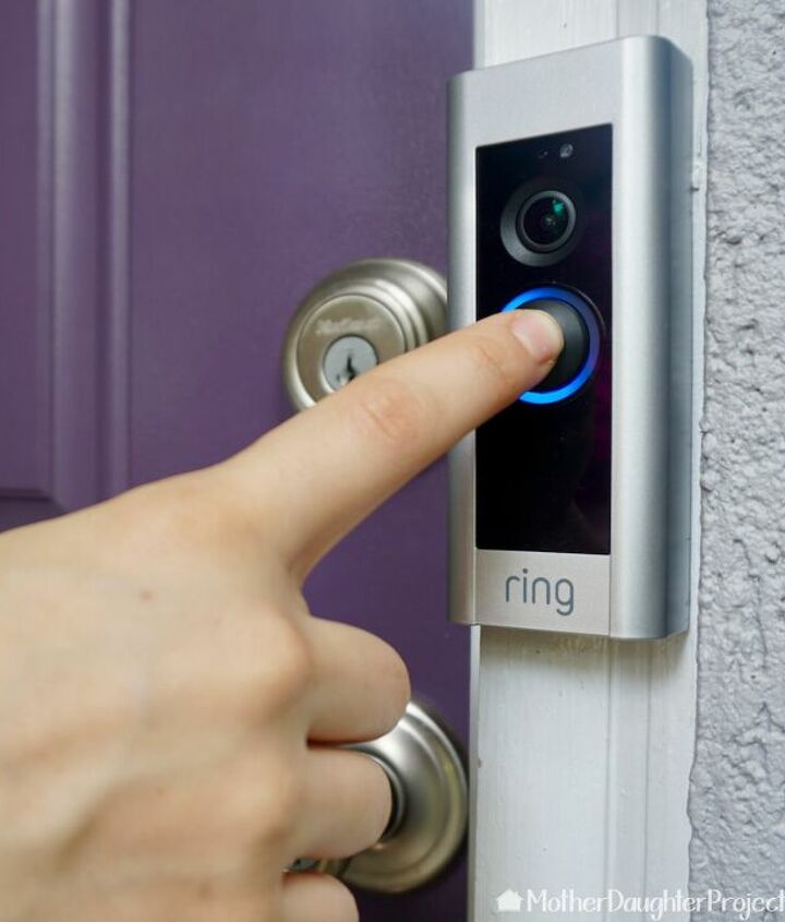 s diy home security ideas, Fit a Smart Home Security Doorbell