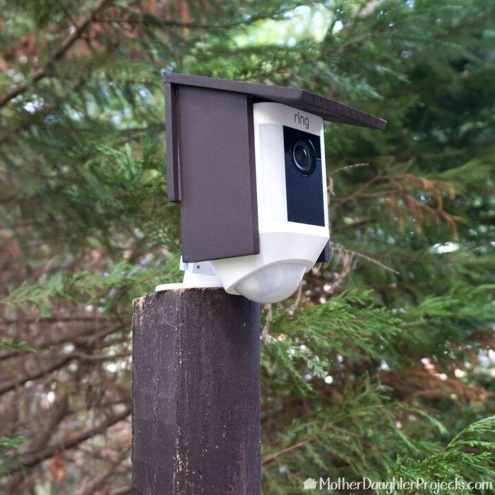 s diy home security ideas, DIY Birdhouse Slipcover for a Smart Home Security Camera