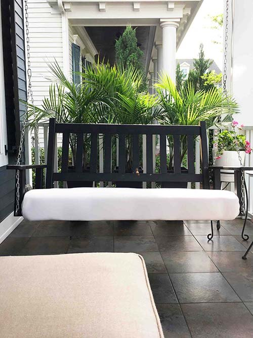 easy driftwood paint finish for outdoor furniture