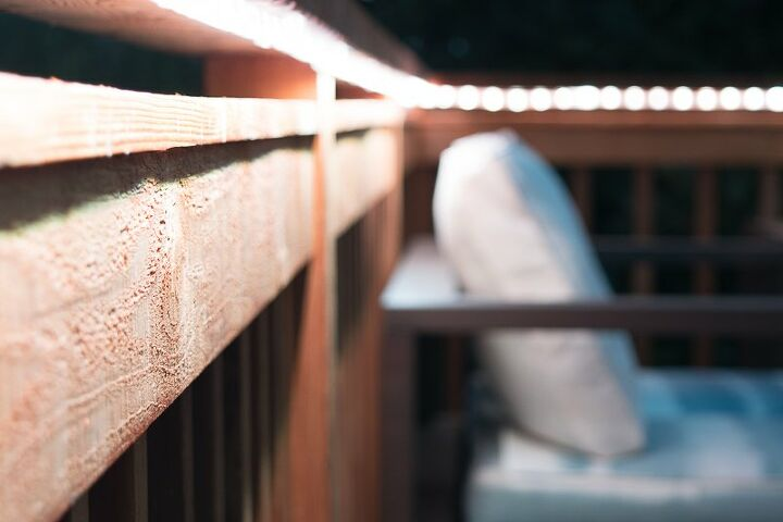 s deck railing ideas, An Easy Way to Incorporate Ambient Lighting into Your Deck Railing