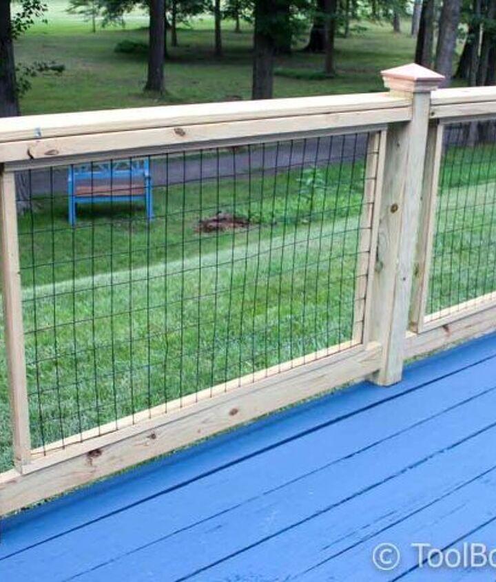 s deck railing ideas, Hog Wire Deck Railings Built from Scratch
