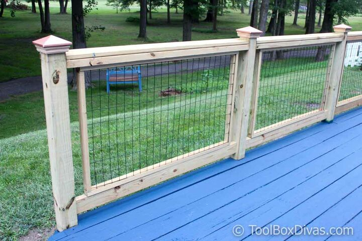 s deck railing ideas, Hog Wire Deck Railings Built from Scratch