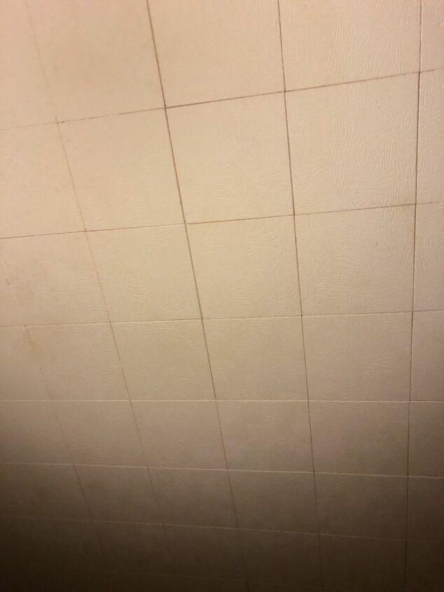 q can i put up pergo type flooring over ceiling tiles