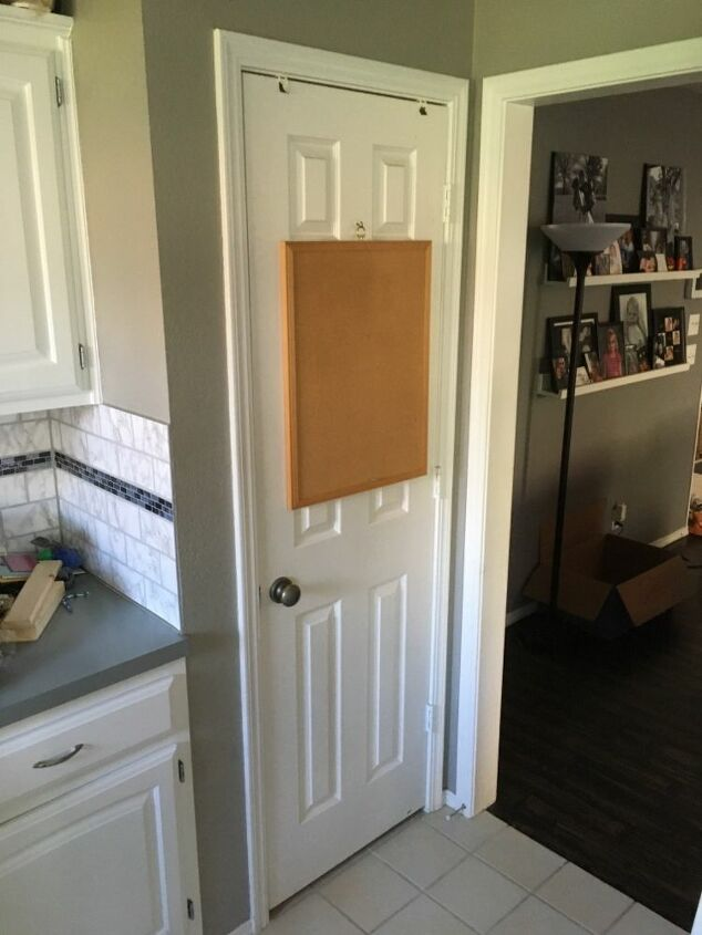 faux wood painting on hollow core doors