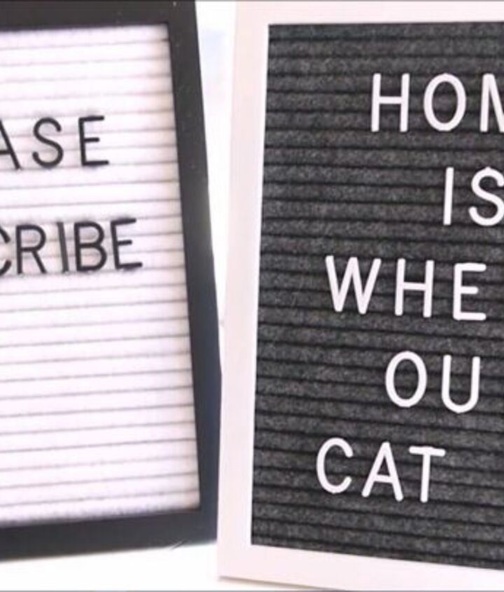s diy letter board ideas, Make a Felt Letter Board from a Bland Picture Frame