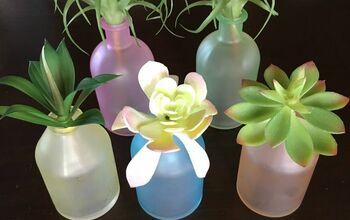 Transform Plain Glass Vases Into Gorgeous Sea Glass