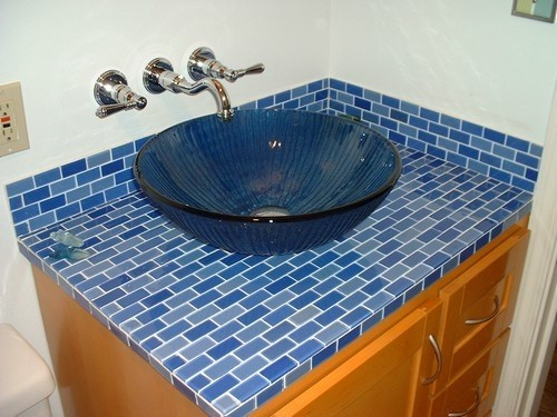 eel-and-Stick Glass Subway Tile