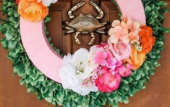Easy Spring Wreath: Front Door Decor