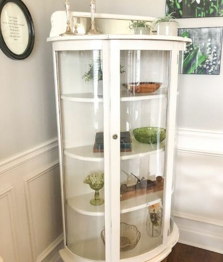 old fashioned curio cabinet makeover